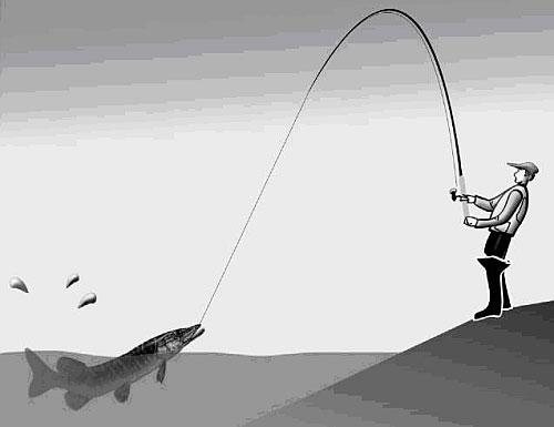 argent fil de pêche